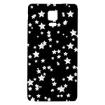 Black And White Starry Pattern Galaxy Note 4 Back Case