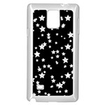 Black And White Starry Pattern Samsung Galaxy Note 4 Case (White)
