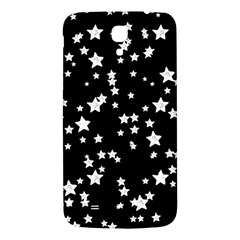 Black And White Starry Pattern Samsung Galaxy Mega I9200 Hardshell Back Case by DanaeStudio
