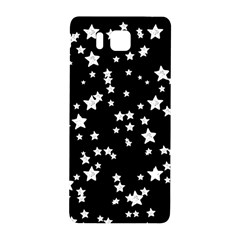Black And White Starry Pattern Samsung Galaxy Alpha Hardshell Back Case by DanaeStudio