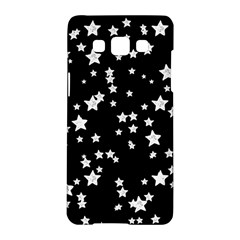 Black And White Starry Pattern Samsung Galaxy A5 Hardshell Case  by DanaeStudio