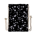 Black And White Starry Pattern Drawstring Bag (Small)
