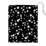 Black And White Starry Pattern Drawstring Pouches (XXL)