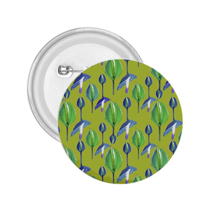Tropical Floral Pattern 2.25  Buttons