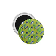 Tropical Floral Pattern 1.75  Magnets