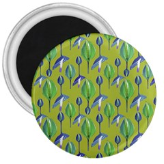 Tropical Floral Pattern 3  Magnets