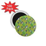 Tropical Floral Pattern 1.75  Magnets (100 pack)