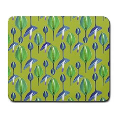 Tropical Floral Pattern Large Mousepads