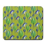Tropical Floral Pattern Large Mousepads Front