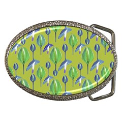 Tropical Floral Pattern Belt Buckles