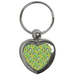 Tropical Floral Pattern Key Chains (Heart)