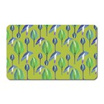 Tropical Floral Pattern Magnet (Rectangular)