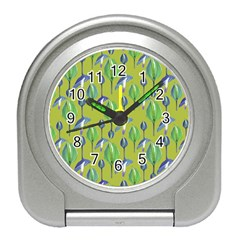 Tropical Floral Pattern Travel Alarm Clocks