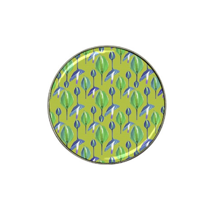 Tropical Floral Pattern Hat Clip Ball Marker