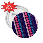 Purple And Pink Retro Geometric Pattern 2.25  Buttons (100 pack)  Front