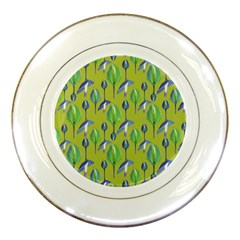 Tropical Floral Pattern Porcelain Plates