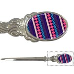 Purple And Pink Retro Geometric Pattern Letter Openers Front