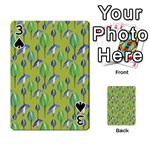 Tropical Floral Pattern Playing Cards 54 Designs  Front - Spade3
