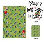 Tropical Floral Pattern Playing Cards 54 Designs  Front - Heart7