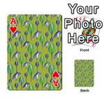 Tropical Floral Pattern Playing Cards 54 Designs  Front - HeartA
