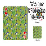 Tropical Floral Pattern Playing Cards 54 Designs  Front - Diamond8