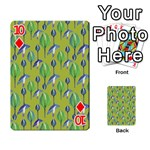 Tropical Floral Pattern Playing Cards 54 Designs  Front - Diamond10