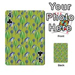 Tropical Floral Pattern Playing Cards 54 Designs  Front - Club4