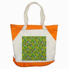 Tropical Floral Pattern Accent Tote Bag