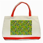 Tropical Floral Pattern Classic Tote Bag (Red)