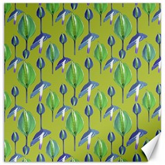 Tropical Floral Pattern Canvas 20  x 20