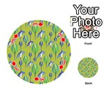 Tropical Floral Pattern Playing Cards 54 (Round)  Front - Diamond3