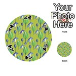 Tropical Floral Pattern Playing Cards 54 (Round)  Front - ClubA