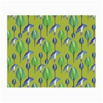 Tropical Floral Pattern Small Glasses Cloth (2-Side)