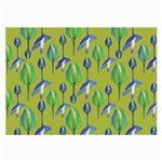 Tropical Floral Pattern Large Glasses Cloth (2-Side)