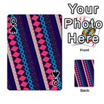Purple And Pink Retro Geometric Pattern Playing Cards 54 Designs  Front - SpadeQ