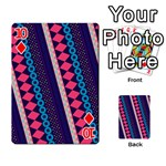 Purple And Pink Retro Geometric Pattern Playing Cards 54 Designs  Front - Diamond10