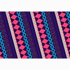 Purple And Pink Retro Geometric Pattern Collage Prints by DanaeStudio