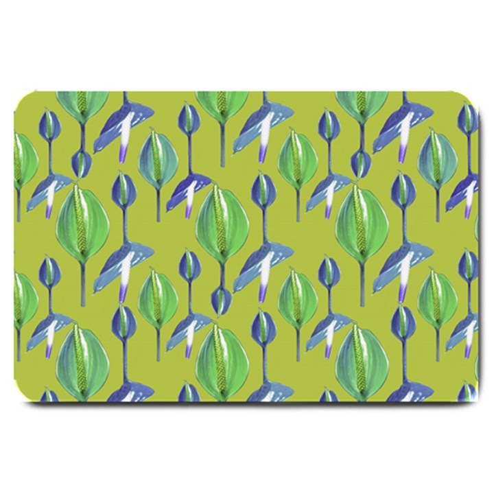 Tropical Floral Pattern Large Doormat