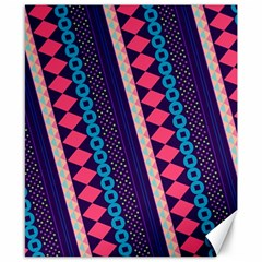 Purple And Pink Retro Geometric Pattern Canvas 8  X 10  by DanaeStudio