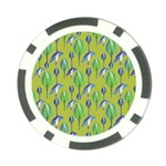 Tropical Floral Pattern Poker Chip Card Guards