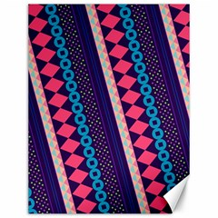 Purple And Pink Retro Geometric Pattern Canvas 12  X 16   by DanaeStudio