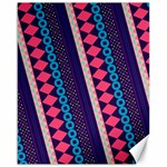 Purple And Pink Retro Geometric Pattern Canvas 16  x 20   20 x16 Canvas - 1