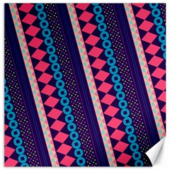 Purple And Pink Retro Geometric Pattern Canvas 20  X 20   by DanaeStudio