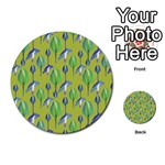 Tropical Floral Pattern Multi-purpose Cards (Round)  Back 44