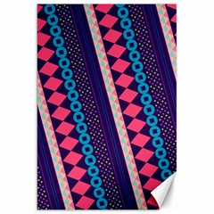 Purple And Pink Retro Geometric Pattern Canvas 20  X 30   by DanaeStudio