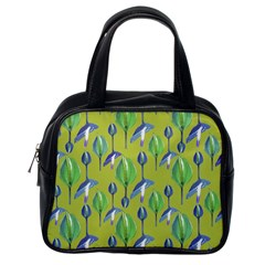 Tropical Floral Pattern Classic Handbags (One Side)