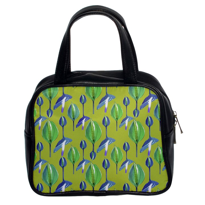 Tropical Floral Pattern Classic Handbags (2 Sides)