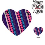 Purple And Pink Retro Geometric Pattern Playing Cards 54 (Heart)  Front - Spade4