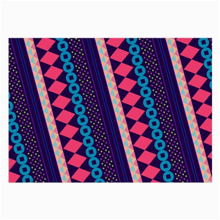 Purple And Pink Retro Geometric Pattern Large Glasses Cloth