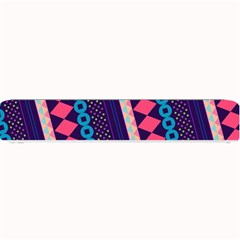 Purple And Pink Retro Geometric Pattern Small Bar Mats by DanaeStudio